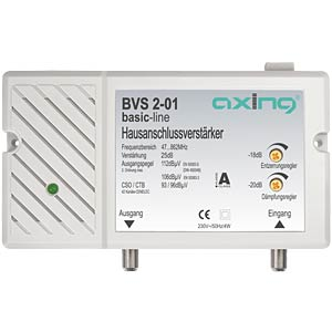 Hausanschlussverstärker, Breitbandkabel-Verstärker, 25 dB AXING BVS00201