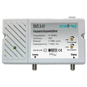 Axing broadband amplifier, 30 dB AXING BVS00301