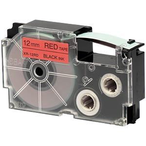 schwarz auf rot, 12 mm Breite CASIO XR-12RD1