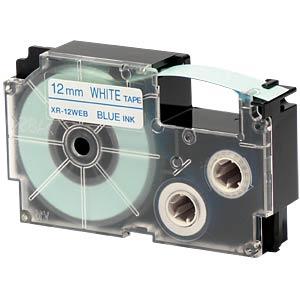 blau auf weiß, 12 mm Breite CASIO XR-12WEB1