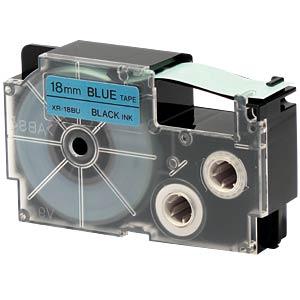 Schriftband, 18 mm x 8 m, schwarz/ blau CASIO XR-18BU1