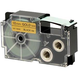 Schriftband, 18 mm x 8 m, schwarz/ gold CASIO XR-18GD1