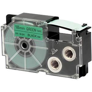 schwarz auf grün, 18 mm Breite CASIO XR-18GN1