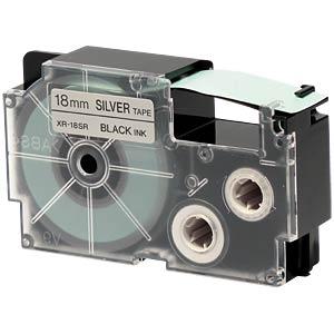 schwarz auf silber, 18 mm Breite CASIO XR-18SR1