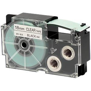 schwarz auf transparent, 18 mm Breite CASIO XR-18X1