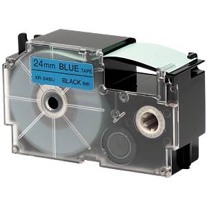 Schriftband, 24 mm x 8 m, schwarz/ blau CASIO XR-24BU1