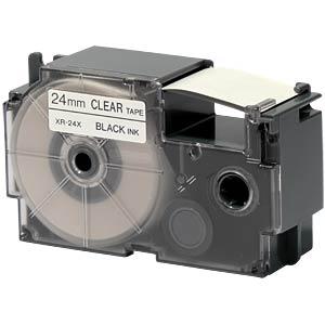 schwarz auf transparent, 24 mm Breite CASIO XR-24X1