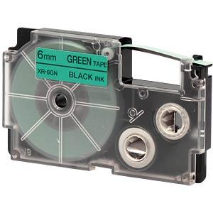 schwarz auf grün, 6 mm Breite CASIO XR-6GN1