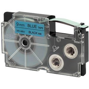 Schriftband, 9 mm x 8 m, schwarz/ blau CASIO XR-9BU1