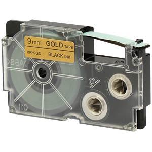 schwarz auf gold, 9 mm Breite CASIO XR-9GD1