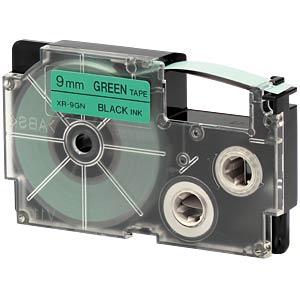 schwarz auf grün, 9 mm Breite CASIO XR-9GN1