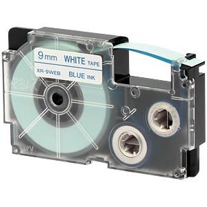 blau auf weiß, 9 mm Breite CASIO XR-9WEB1