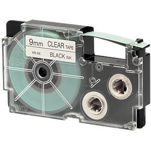schwarz auf transparent, 9 mm Breite CASIO XR-9X1