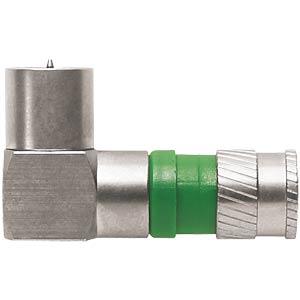 F-Kompressionsstecker, NITIN, für Ø 4,8 mm Koaxialkabel, gewinke AXING CFS10048