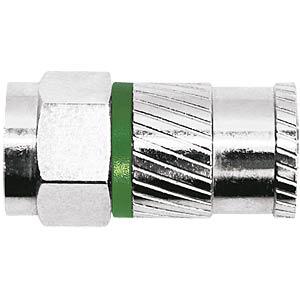 F-Kompressionsstecker, NITIN, für Ø 4,8 mm Koaxialkabel AXING CFS09348