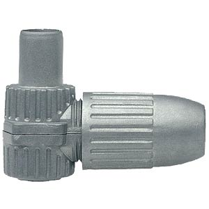 Coaxial plug, angled, cast housing AXING CKS00400