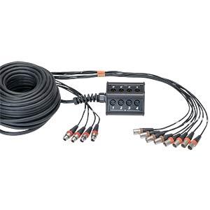 Stageboxen mit Kabel 30m, 8 Eingänge CORDIAL CYB 8-4 C
