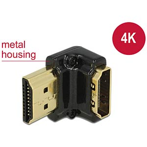 Adapter HDMI-A female > HDMI-A male 4K 90° angled down black DELOCK 65662