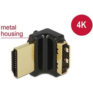 Adapter HDMI-A female > HDMI-A male 4K 90° angled up black DELOCK 65663