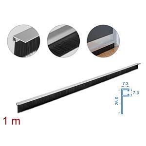 DELOCK 66652 - Bürstenstreifen 40 mm mit Alu-Profil gewinkelt - Länge 1 m