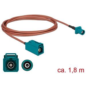 DELOCK 89659 - HF-Kabel FAKRA Z Stecker > FAKRA Z Buchse 1,8 m