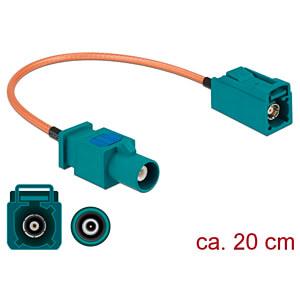 DELOCK 89660 - HF-Kabel FAKRA Z Stecker > FAKRA Z Buchse 20 cm