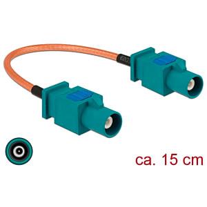 DELOCK 89662 - HF-Kabel FAKRA Z Stecker > FAKRA Z Stecker 15 cm