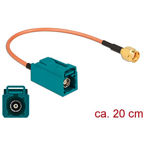 DELOCK 89664 - HF-Kabel FAKRA Z Buchse > RP-SMA Stecker 20 cm