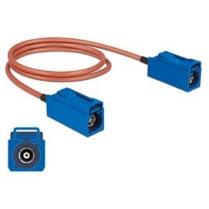DELOCK 89667 - HF-Kabel FAKRA C Buchse > FAKRA C Buchse 50 cm
