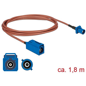 DELOCK 89669 - HF-Kabel FAKRA C Buchse > FAKRA C Stecker 1,8 m