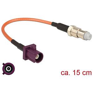 DELOCK 89675 - HF-Kabel FAKRA D Stecker > FME Buchse 15 cm