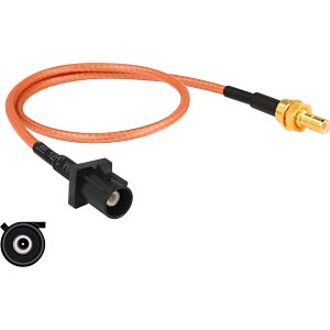 DELOCK 89676 - HF-Kabel FAKRA A Stecker > SMB Stecker 30 cm
