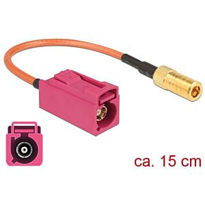DELOCK 89677 - HF-Kabel FAKRA H Buchse > SMB Buchse 15 cm