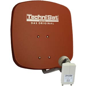 SAT dish 33 cm, red, universal twin LNB TECHNISAT 1433/2882