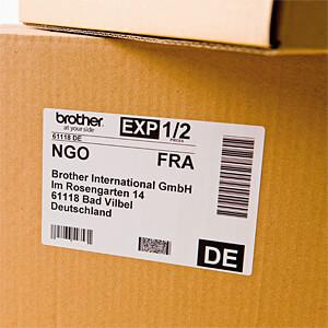 Versand-Etiketten, 62 x 100 mm, (300 St/Rolle) BROTHER DK-11202