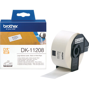Adress-Etiketten (groß), 38 x 90 mm, (400 St/Rolle) BROTHER DK-11208