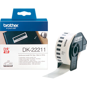 Endlos Etikett, Film, weiß, 29 mm BROTHER DK-22211