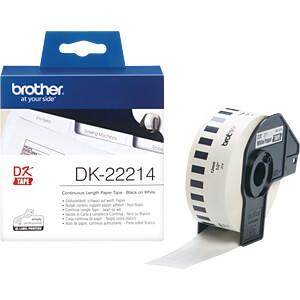 Papier, weiß, Länge 30,48 m, Breite 12 mm BROTHER DK-22214