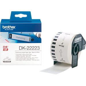 Papier, weiß, Länge 30,48 m, Breite 50 mm BROTHER DK-22223