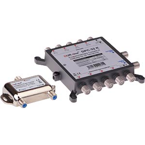 cascadable Unicable II switch with 32 UBs DUR-LINE 13240