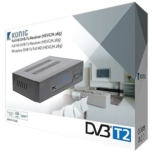 DVB-T2 Receiver (Free-to-Air) KÖNIG DVB-T2 FTA20