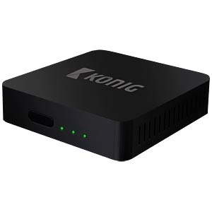 4K Android Streaming-Box mit DVB-T2/S2 Tuner KÖNIG DVB-TS2 4KASB