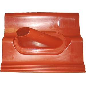 Plastic roof tile, double S, red FREI