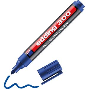 EDDING 300BL - Permanent Marker / blau / 1,5-3,0mm