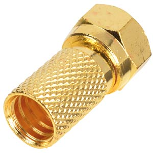 F plug/gold-plated for cables with 6.5 mm Ø FREI