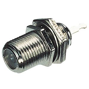 F connector, jack, centrally mounted FREI