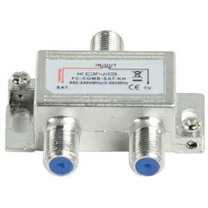 SAT / UHF / VHF combiner KÖNIG FC-COMB-SAT-KN