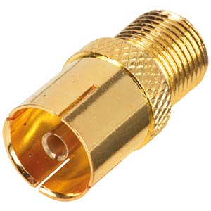 F socket <> IEC socket/gold-plated FREI