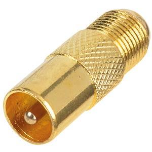 F-Buchse <-> IEC-Stecker / vergoldet FREI