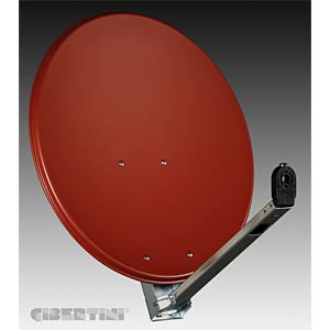 SAT dish, 65 cm, red brown (RAL 8012) GIBERTINI OP65L